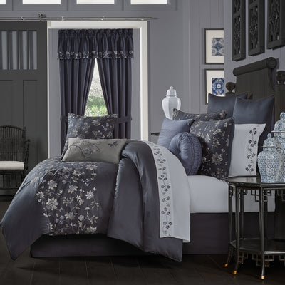 Delilah Indigo 4-Piece Comforter Set Comforter Sets By J. Queen New York