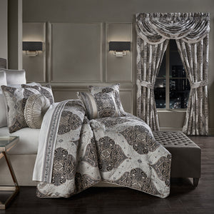 Desiree Silver 4-Piece Comforter Set [Luxury comforter Sets] [by Latest Bedding]