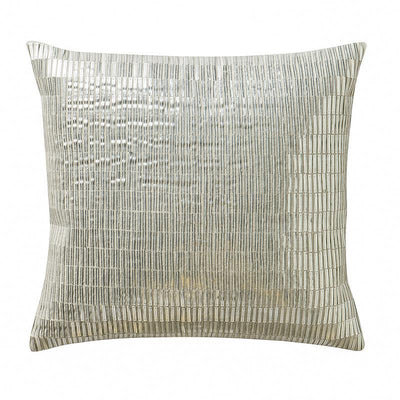 "Driftwood Sand Decorative Pillow 14"" x 14"" Throw Pillows By Waterford"