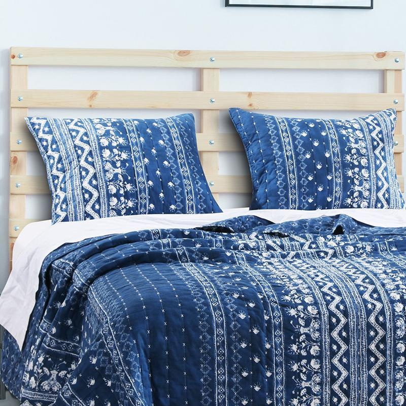 Embry Indigo Sham [Luxury comforter Sets] [by Latest Bedding]