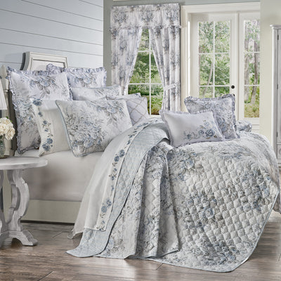 Estelle Blue 3-Piece Quilt Set Quilt Sets By J. Queen New York