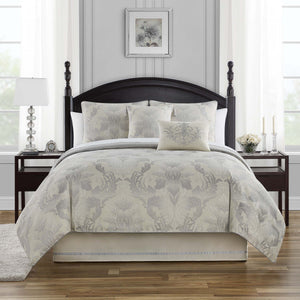 Fairlane Silver 4-Piece Reversible Comforter Set [Luxury comforter Sets] [by Latest Bedding]