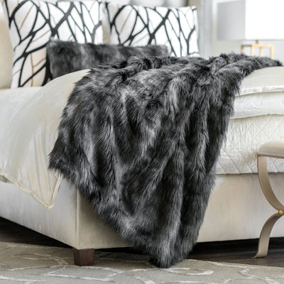 Faux Fur Black Throw Throws By Lili Alessandra