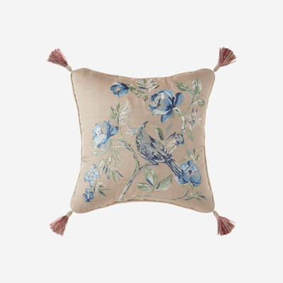 Fleur White Fashion Throw Pillow By Croscill Throw Pillows By Croscill Home LLC