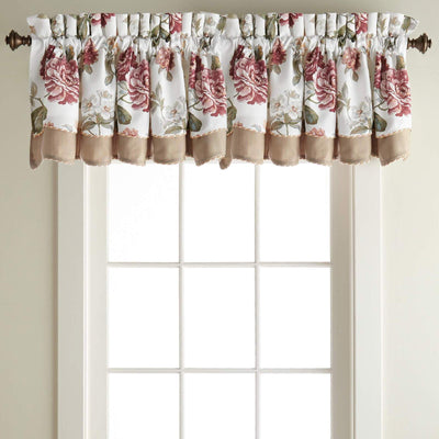 Fleur White Window Valance By Croscill Window Valance By Croscill Home LLC