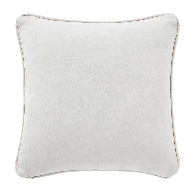 "Florence Chambray Blue Square Decorative Pillow 14"" x 14"" by Waterford  By Latest Bedding"