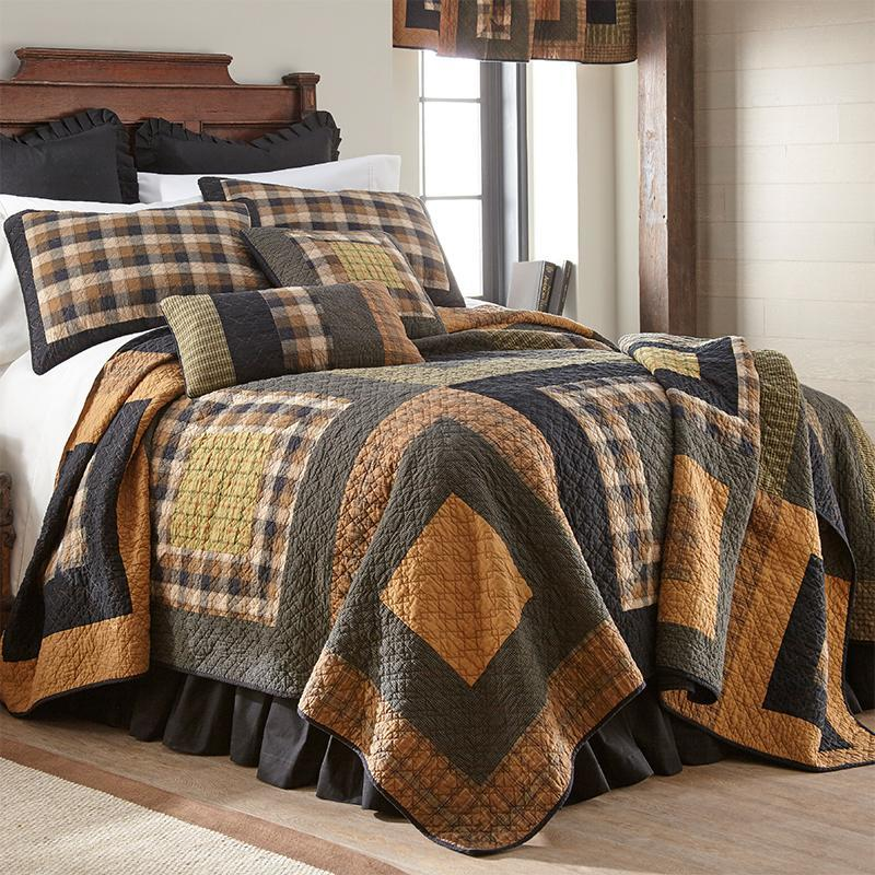 Forest Square 3-Piece Cotton Quilt Set [Luxury comforter Sets] [by Latest Bedding]