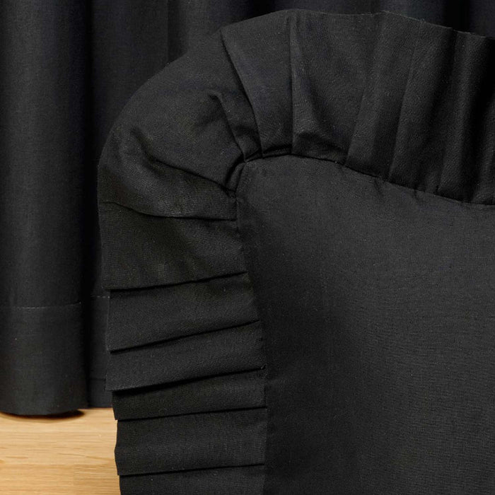 Forest Square Black Night Ruffled Euro Sham