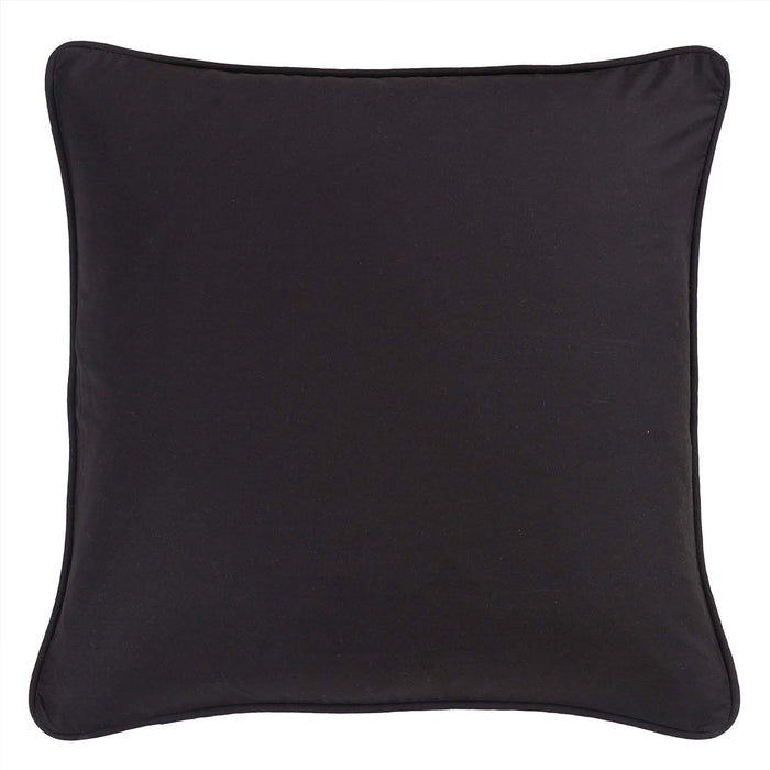 Forest Square Black Piped Euro Sham