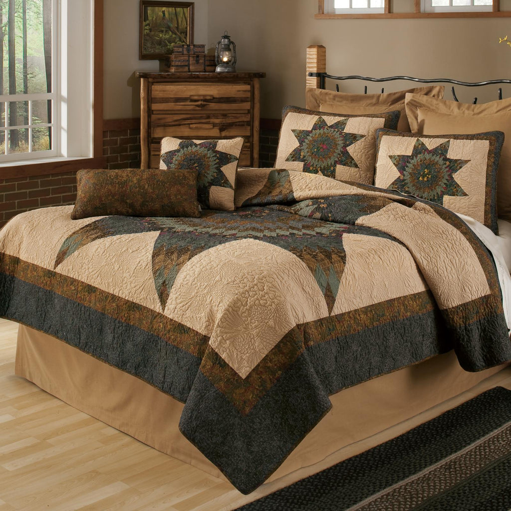 Forest Star 3-Piece Quilt Set [Luxury comforter Sets] [by Latest Bedding]