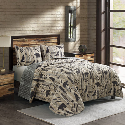 Forest Weave 3-Piece Quilt Set [Luxury comforter Sets] [by Latest Bedding]