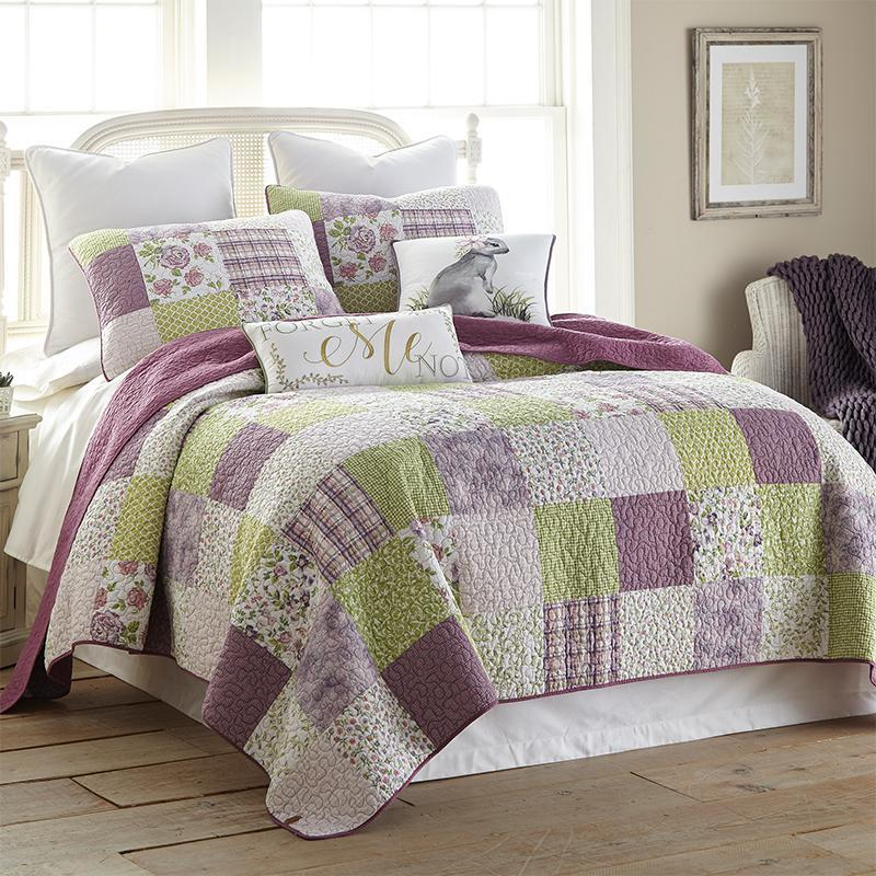 Forget Me Not 3-Piece Cotton Quilt Set [Luxury comforter Sets] [by Latest Bedding]
