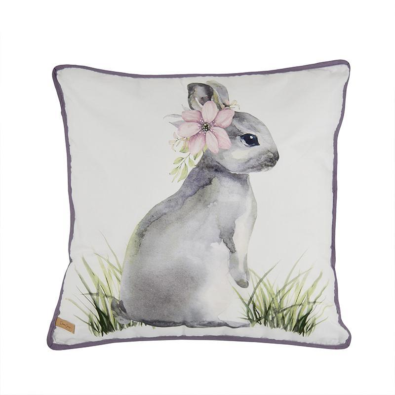 Forget Me Not Decorative Pillow Bunny [Luxury comforter Sets] [by Latest Bedding]