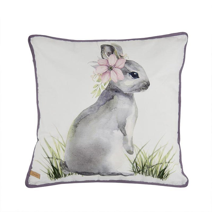 Forget Me Not Decorative Pillow Bunny