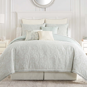 Forli Sea Mist 4-Piece Comforter Set [Luxury comforter Sets] [by Latest Bedding]