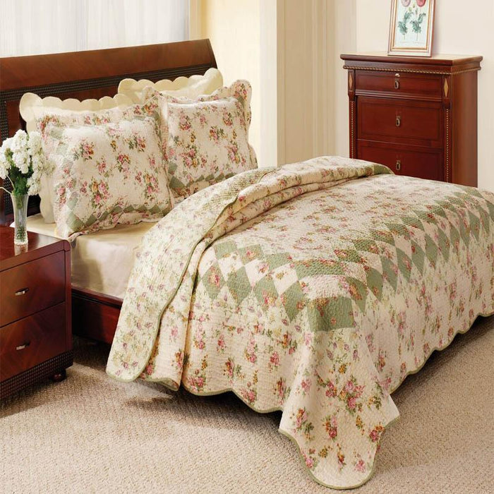 Bliss Ivory 3-Piece Quilt Set