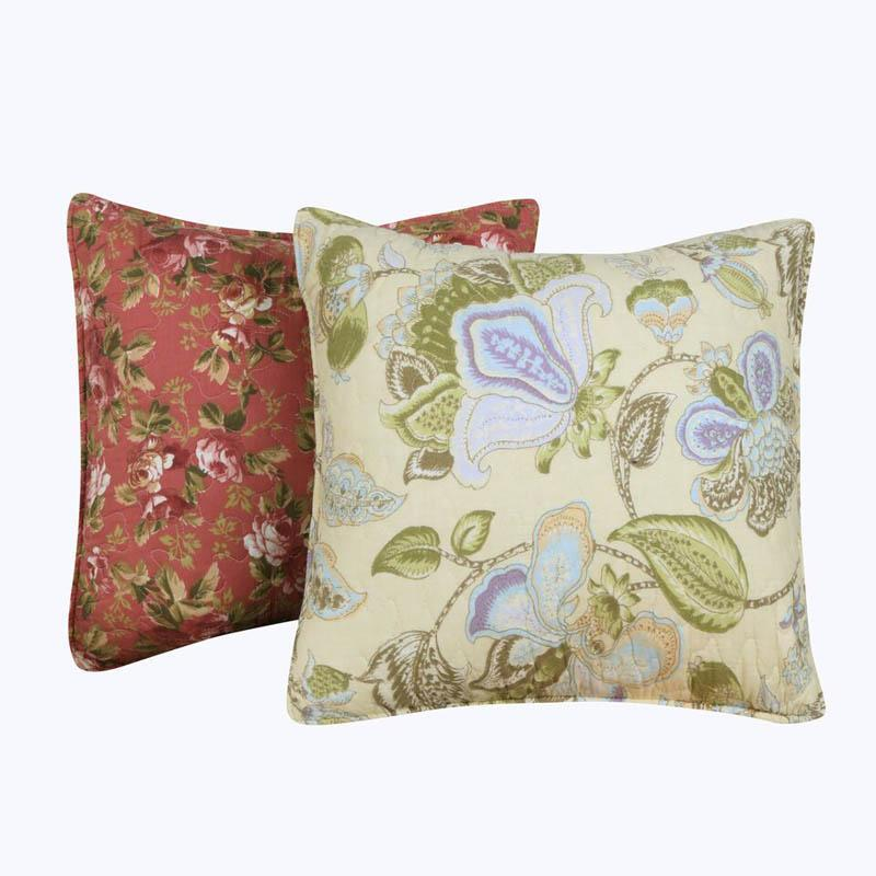 Pillows Blooming Prairie Multi Decorative Pillow Pair [Luxury comforter Sets) ( by Latest Bedding)]