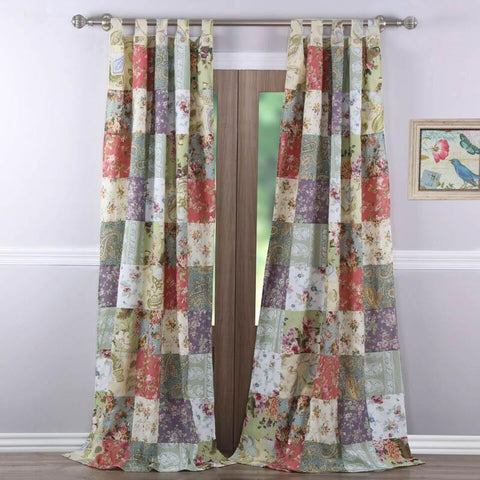 Window Panels Blooming Prairie Patchwork Window Panel Pair Latest Bedding