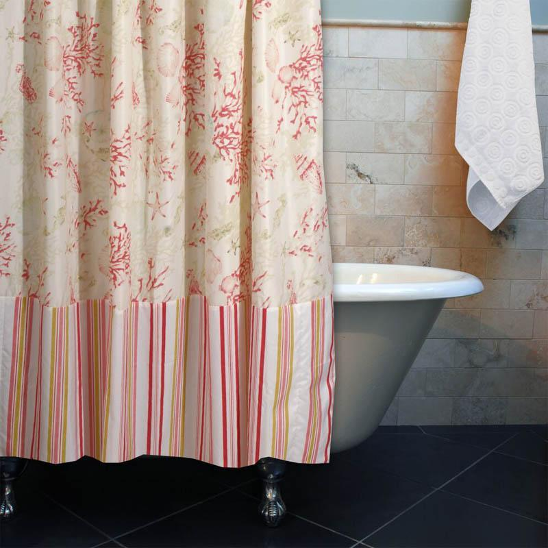 Shower Curtain Coral Shower Curtain Latest Bedding