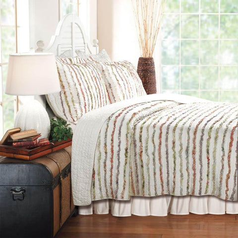 Quilt Sets Bella Ruffle Multi 3-Piece Quilt Set Latest Bedding
