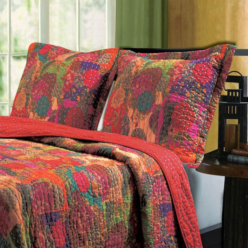 Sham Greenland Home Fashions Jewel Multicolored Cotton Pillow Sham Latest Bedding