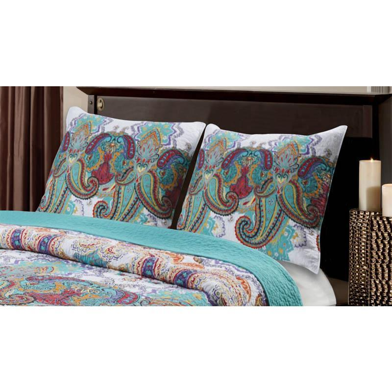Sham Nirvana Teal Sham Latest Bedding