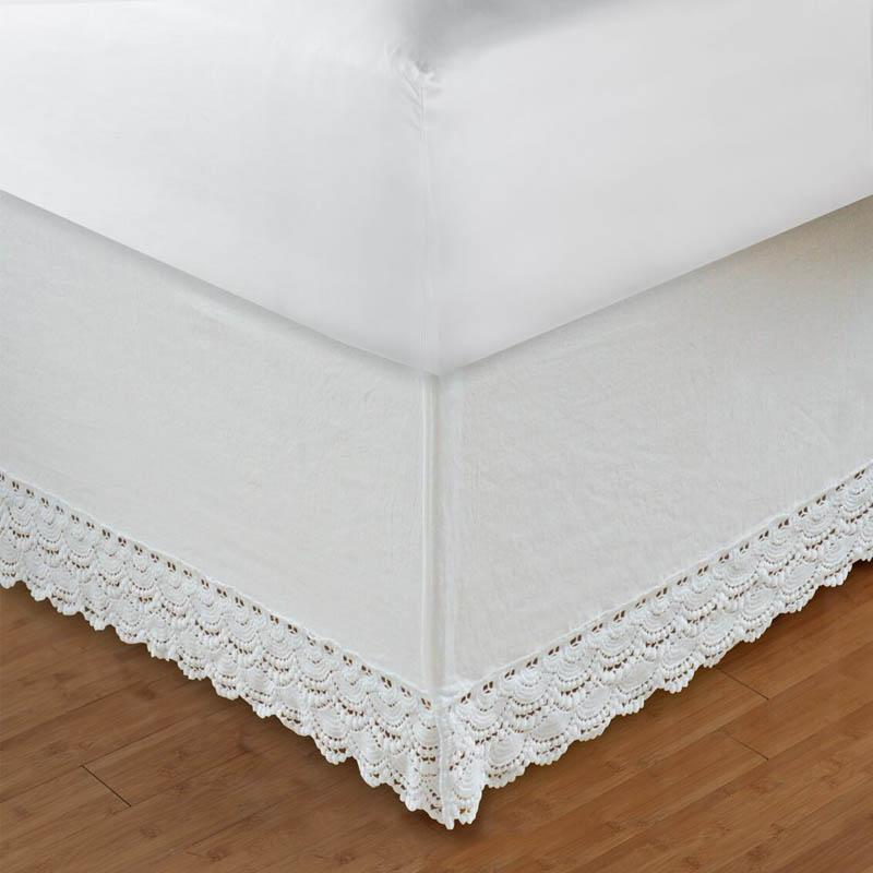 Crochet Lace Bed Skirt