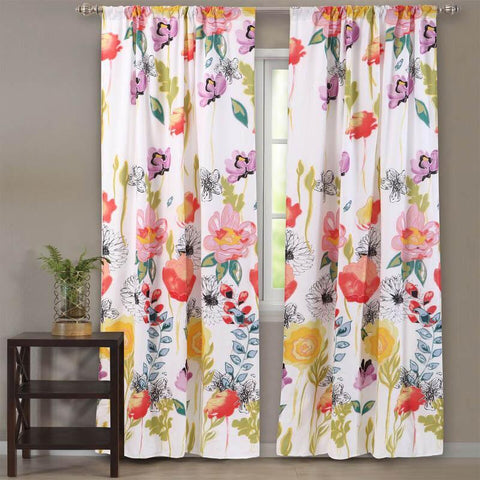 Window Panels Watercolor Dream Multi Window Panel Pair Latest Bedding
