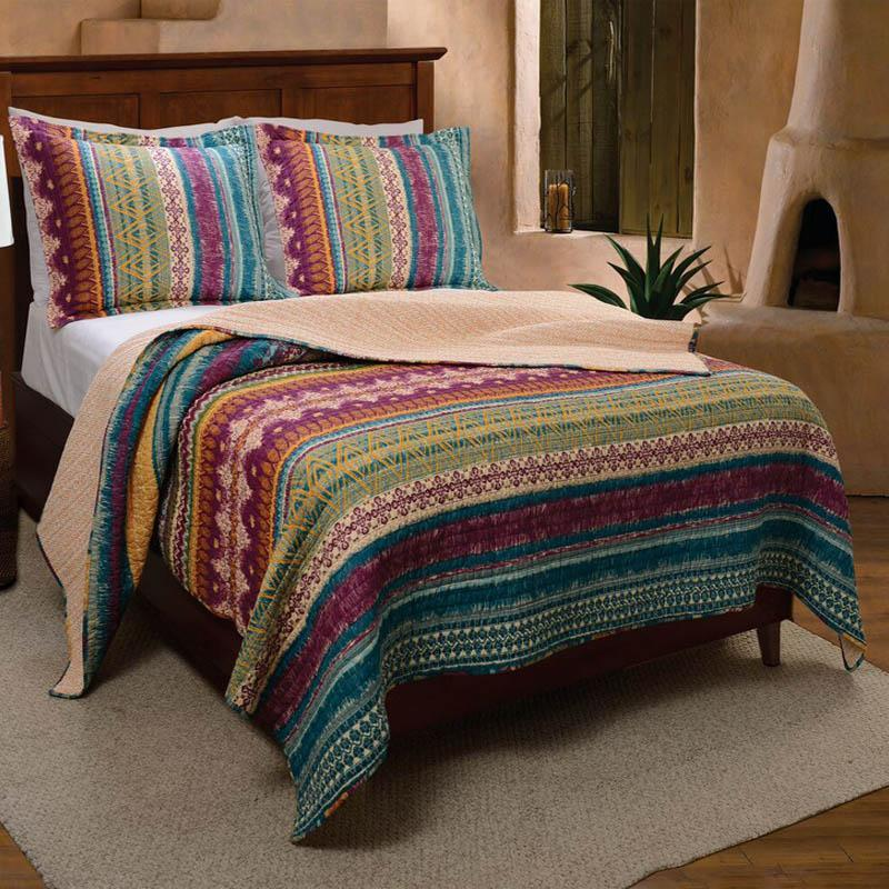 Quilt Sets Southwest Multi 3-Piece Quilt Set Latest Bedding