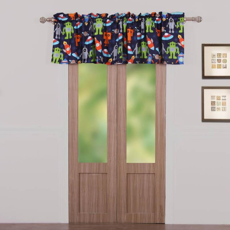 Window Valance Robots in Space Multi Window Valance Latest Bedding
