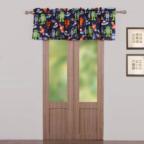 Window Valance Greenland Home Fashions Robots in Space Window Valance Latest Bedding