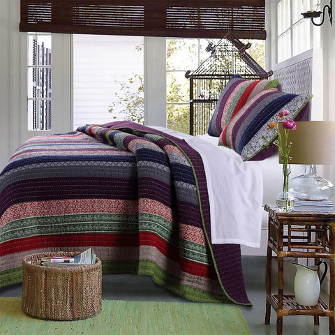 Quilt Sets Marley 3-Piece Quilt Set -  100% Cotton Latest Bedding
