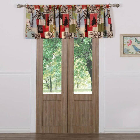 Valance Rustic Lodge Multi Window Valance Latest Bedding