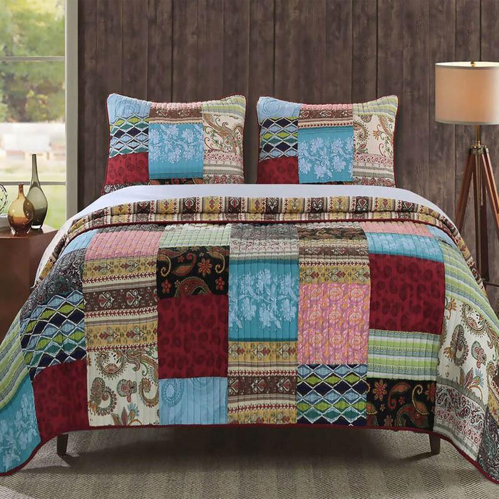 Bohemian Dream Multi 3-Piece Quilt Set