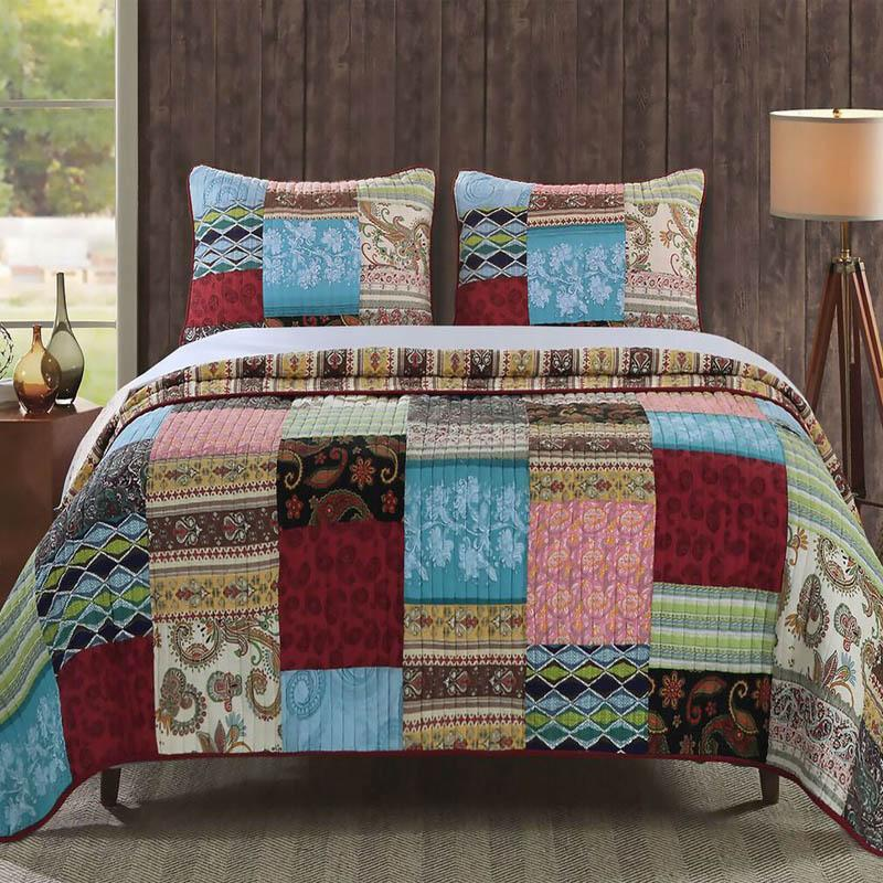 Bohemian Dream Multi 3-Piece Quilt Set [Luxury comforter Sets] [by Latest Bedding]