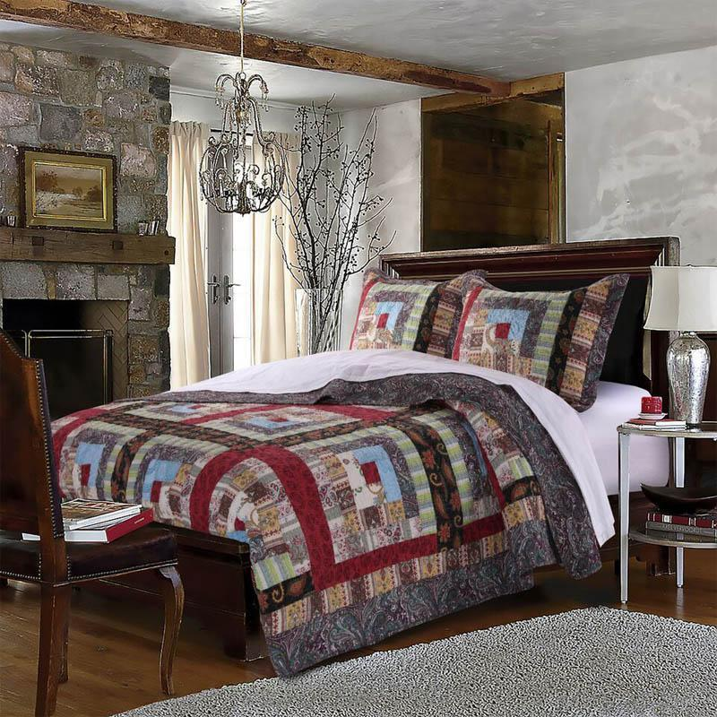 Quilt Sets Colorado Lodge 3-Piece Quilt Set 100% Cotton Latest Bedding