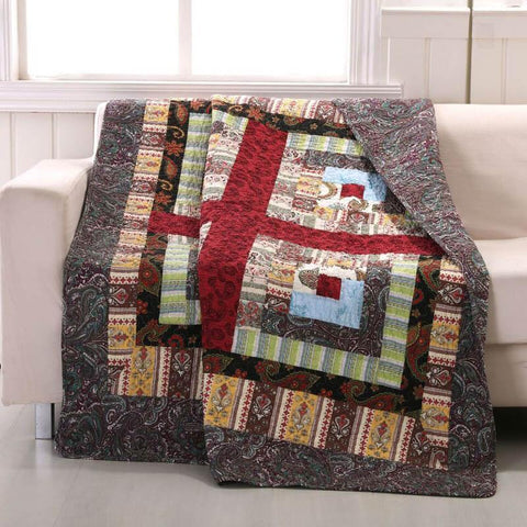 Throws Greenland Home Fashions Colorado Lodge Throw 100% Cotton Latest Bedding