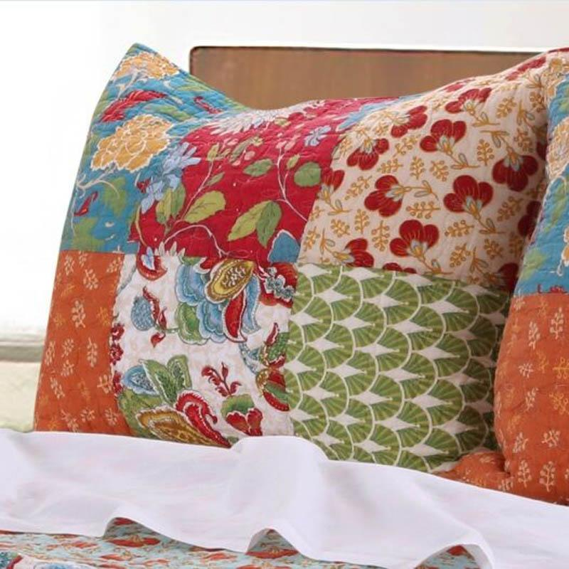 Sham Terra Blossom Patchwork Sham - 100% Cotton Latest Bedding