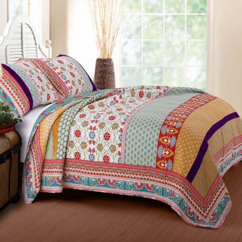 Quilt Sets Thalia Multi 3-Piece Quilt Set [Luxury comforter Sets) ( by Latest Bedding)]