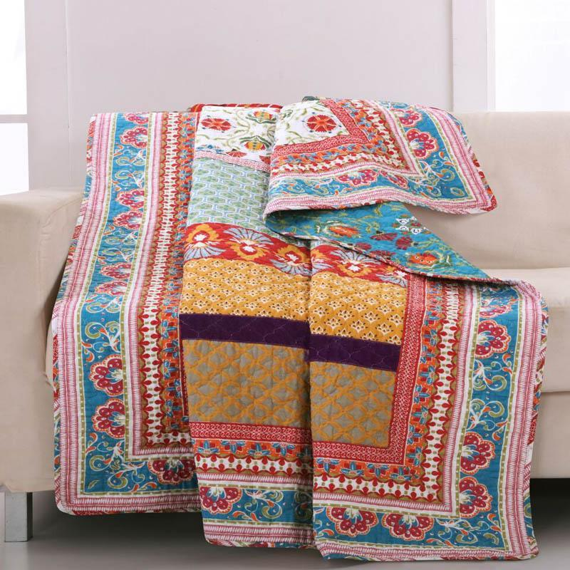 Throws Thalia Quilted Reversible Throw - Poly/Cotton Latest Bedding