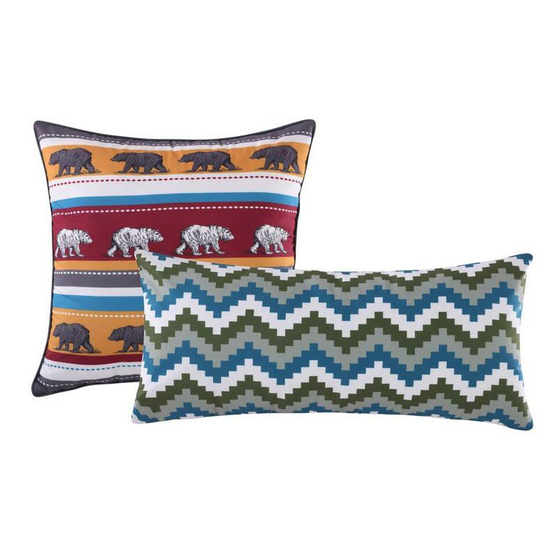 Black Bear Lodge Multi Decorative Pillow Pair Throw Pillows By Greenland Home Fashions