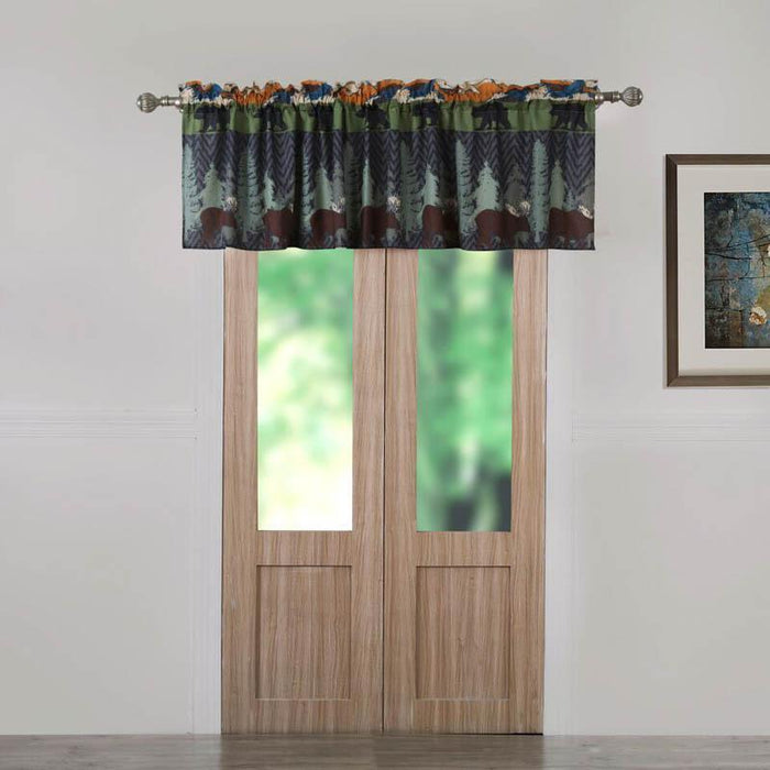 Black Bear Lodge Multi Window Valance