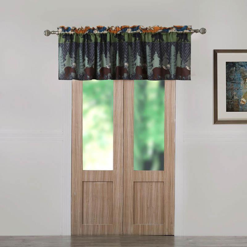 Greenland Home Fashions Black Bear Lodge Window Valance Multicolored