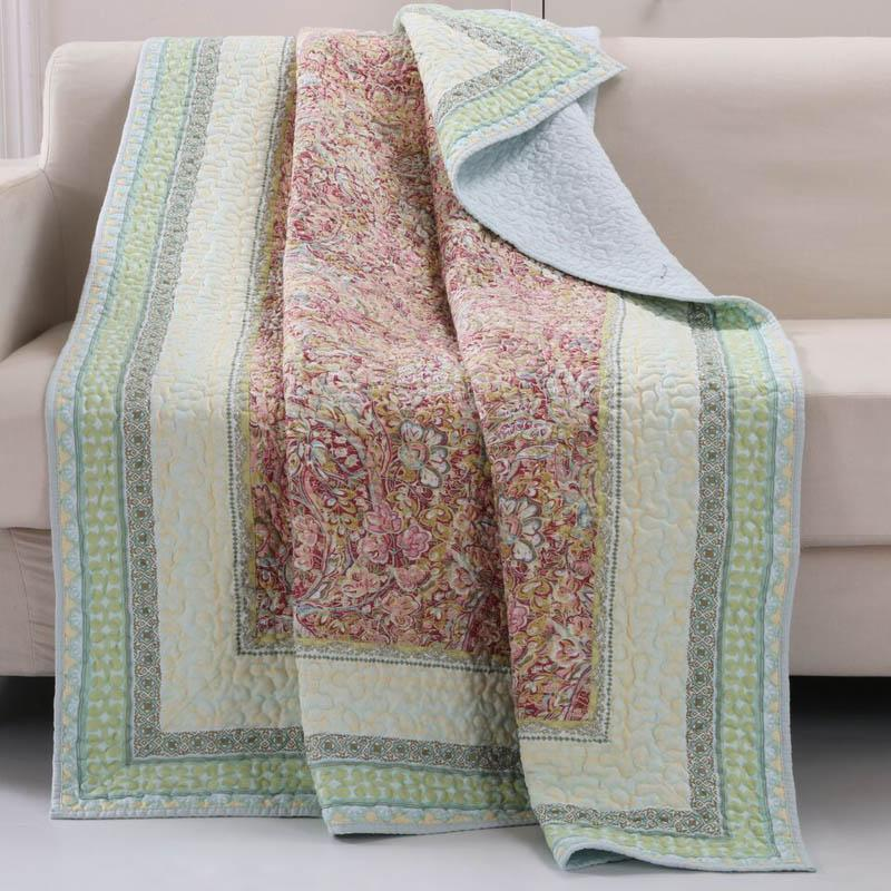 Throws Barefoot Bungalow Palisades Throw - Poly/Cotton Latest Bedding