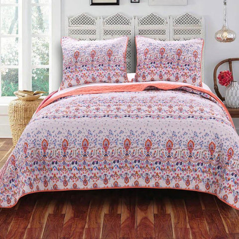 Quilt Sets Amber Quilt Set Fuschia Purple White Latest Bedding