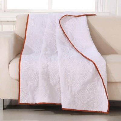 Cameo Whisper White Throw Throws By Greenland Home Fashions