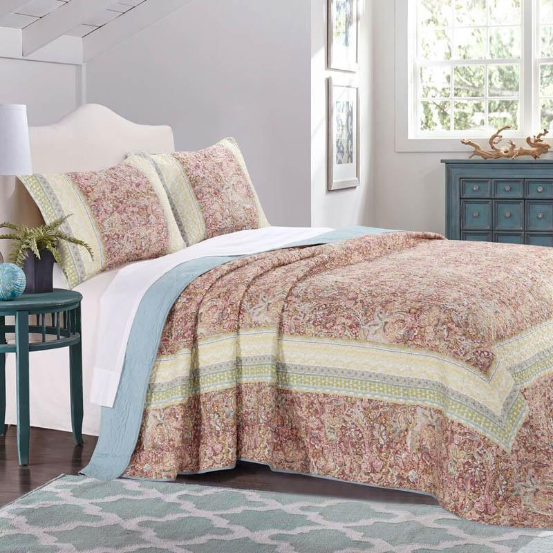 Bedspread Set Palisades Pastel 3-Piece Bedspread Set Latest Bedding