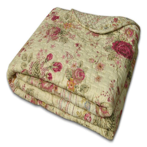 Throws Antique Rose Throw Crafted with 100% Cotton Latest Bedding