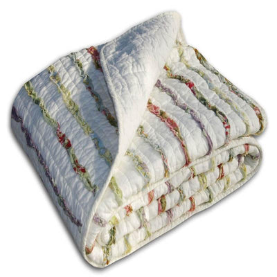 Bella Ruffle Multi Throw Throws By Greenland Home Fashions