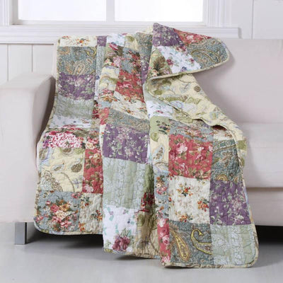 Blooming Prairie Multi Throw [Luxury comforter Sets] [by Latest Bedding]